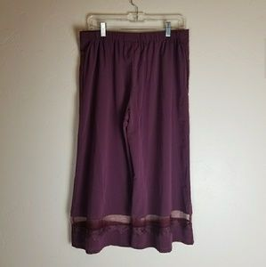 Anthropologie Intimates & Sleepwear - Anthropologie Eloise Marroon Lounge Pants sz M